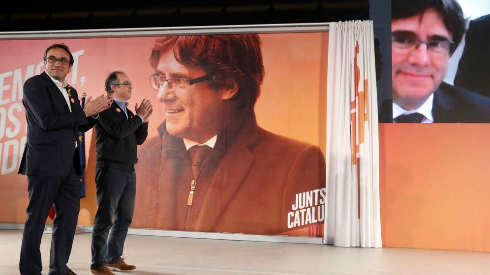 Foto: Puigdemont entra en campaña desde Bélgica. (EFE)