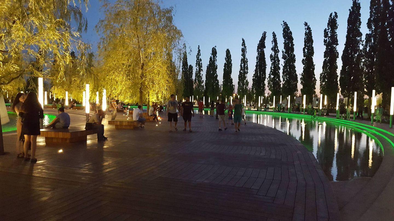 El parque público de la Krasnodar Academy (A.P.)