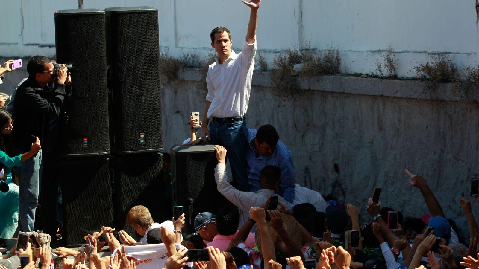 Foto: El presidente de la Asamblea Nacional de Venezuela (AN, Parlamento), el opositor Juan Guaidó. (EFE)