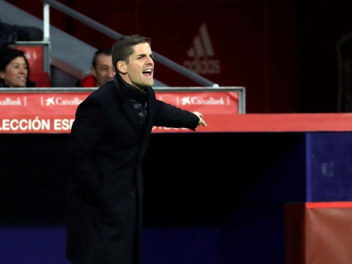 Foto: Robert Moreno, durante el España-Rumania jugado el pasado lunes en el Wanda Metropolitano de Madrid. (EFE)