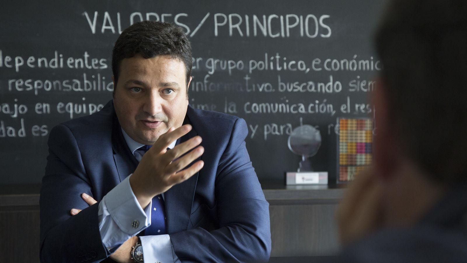 Foto: Óscar Graefanhain, director general del CSD, durante su visita a El Confidencial. (Fotos: Francisco Javier Martínez)