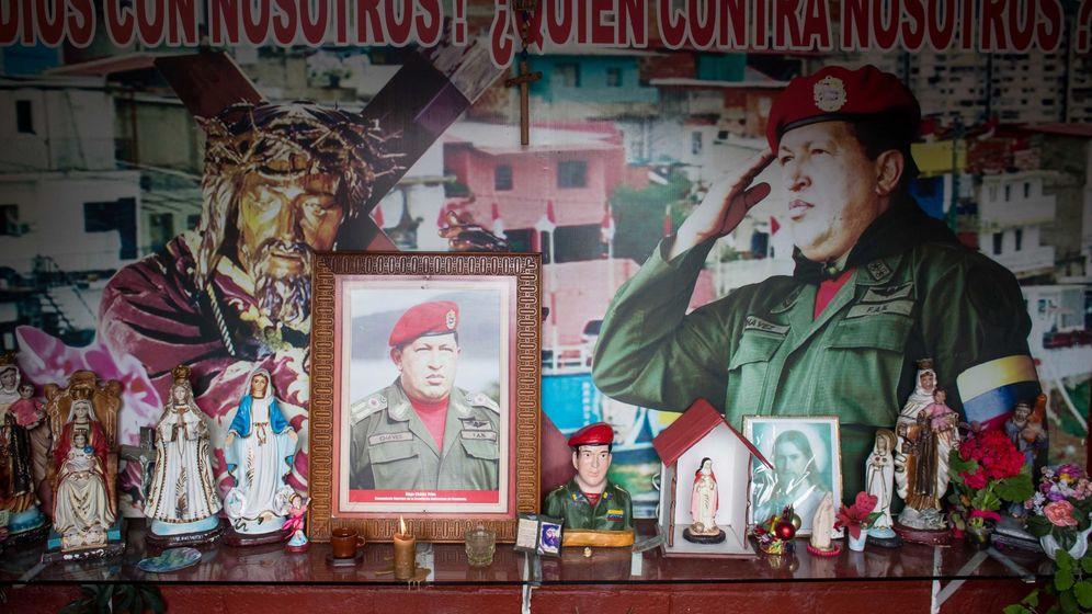 Foto: Celebración del quinto aniversario de la muerte de Hugo Chávez, el pasado 5 de marzo. (EFE)