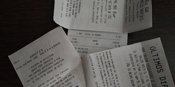c7f011389a094 Supermercados: No guardes los tickets de compra que se borran: la ...