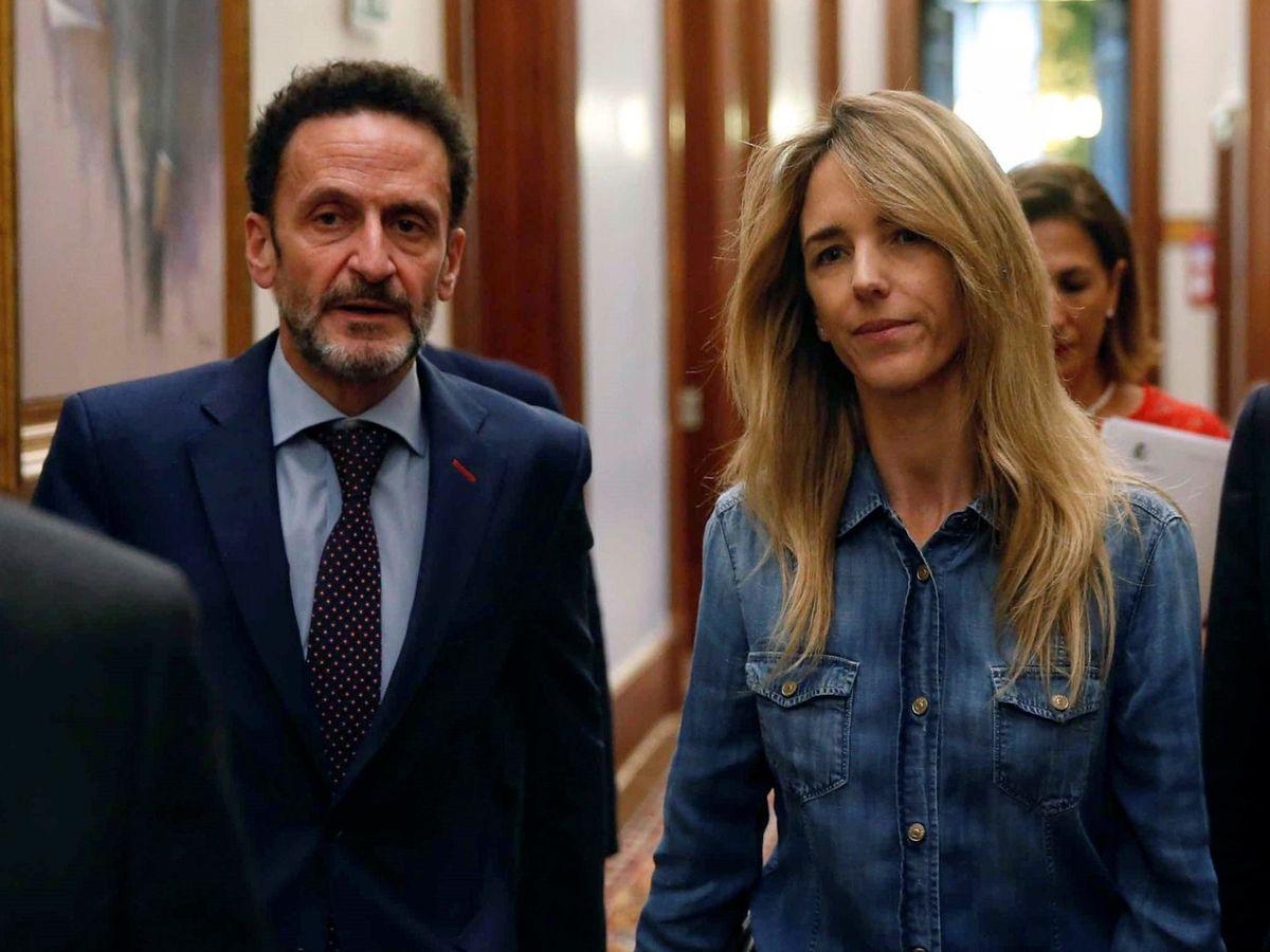 Foto: Cayetana Álvarez de Toledo (PP) y Edmundo Bal (Cs), este 15 de enero tras la primera Junta de Portavoces en el Congreso después de la investidura. (EFE)