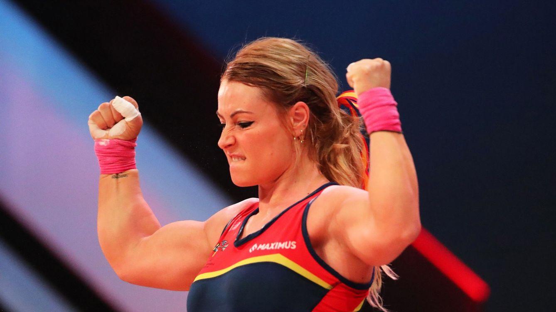 Lydia Valentín se cuelga la medalla de plata en el Mundial en la categoría de 81 kilos