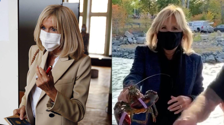 Brigitte Macron vs. Jill Sander. (Reuters / Instagram)