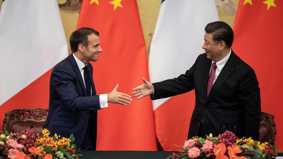 Foto: Emmanuel Macron y Xi Jinping. (EFE)
