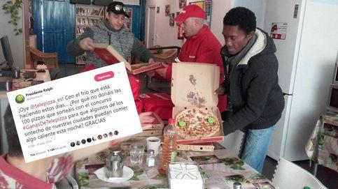 Mil pizzas para los sintecho: el reto de Twitter que ha recaudado 7.000 euros