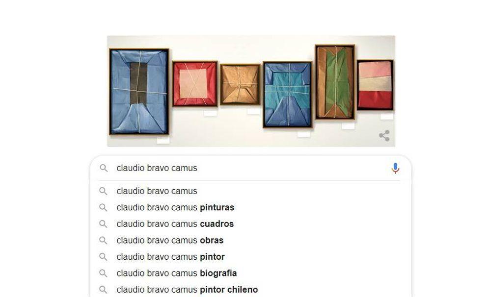 Foto: El 'doodle' que le dedica Google al pintor Claudio Bravo Camus