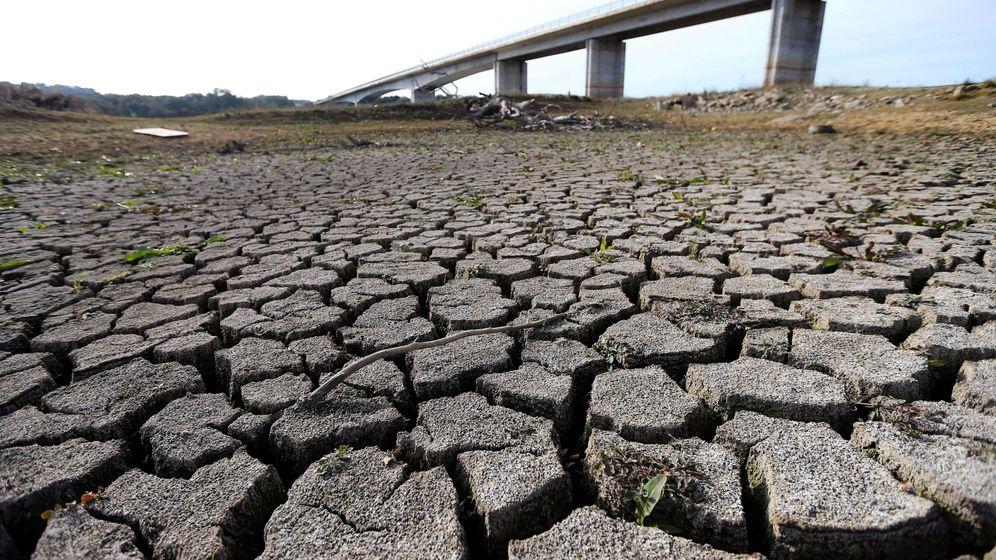 Foto: El Guadiana bajo el puente que conecta España con Portugal, el 22 de noviembre. (Nuno Veiga / EFE)