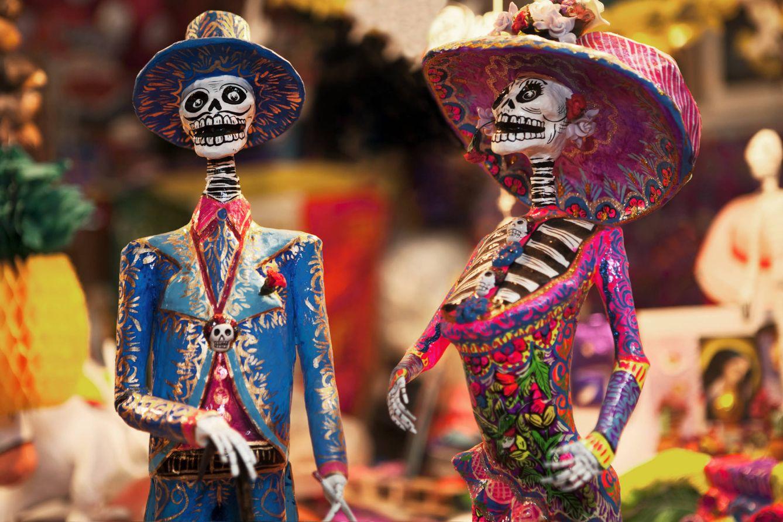 Foto: La Catrina y acompañante (el Catrín) el Día de los Muertos,
