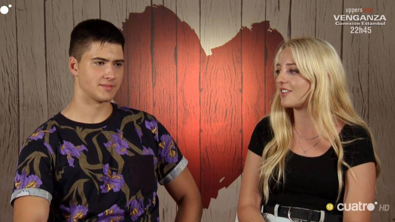 David y Claudia, comensales de 'First Dates'. (Cuatro)