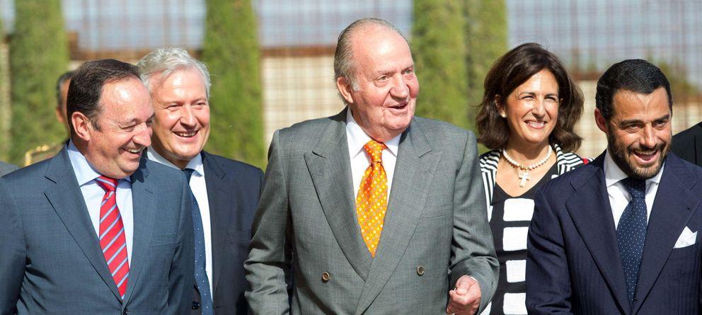 Foto: Don Juan Carlos durante el acto (Efe)