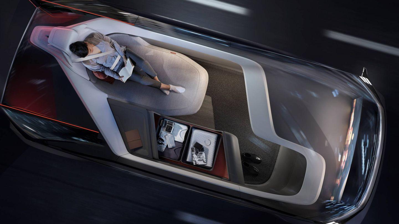Volvo 360c, interior.