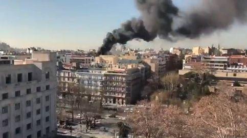 Incendio en un edificio en obras en el centro de Madrid: No hay heridos