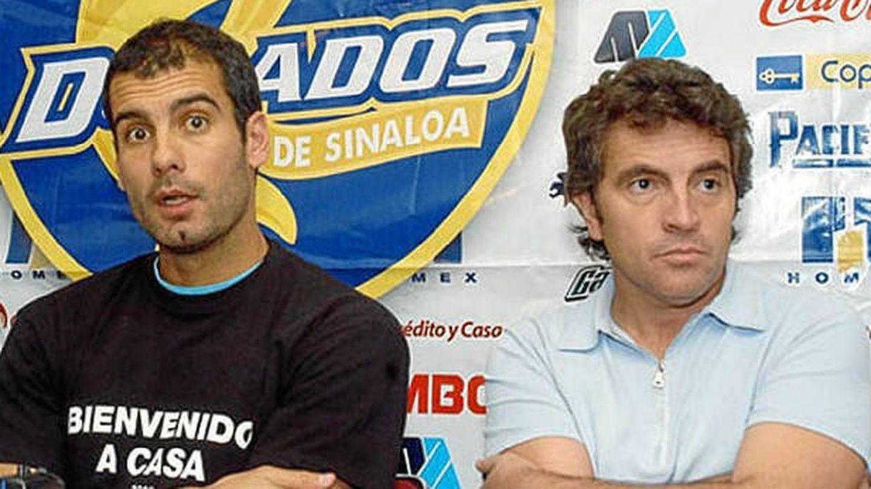 Pep Guardiola y Juanma Lillo, con el Dorados de Sinaloa mexicano