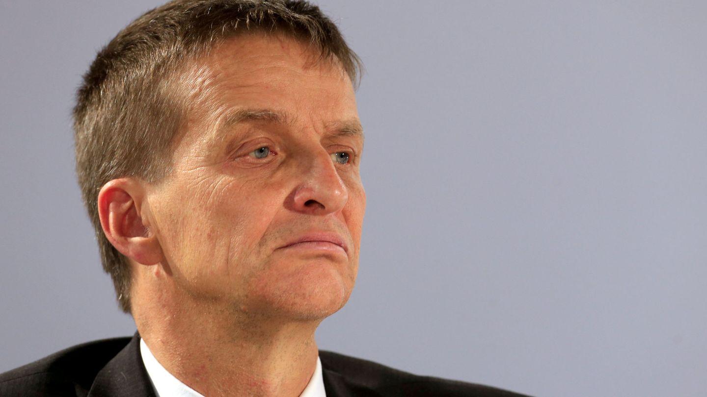 El gobernador del Banco de Estonia, Ardo Hansson, en una conferencia. (Reuters)