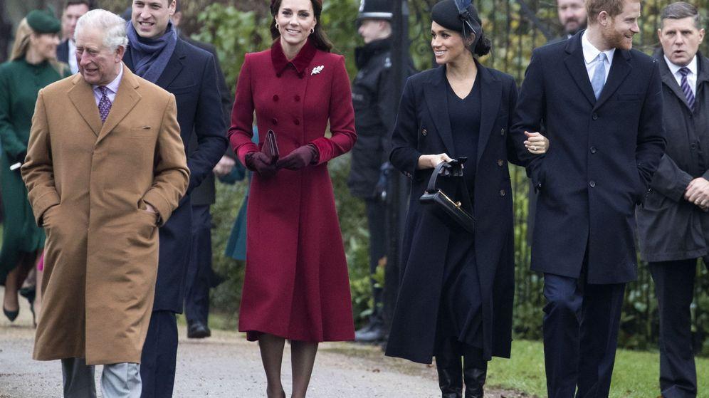 Foto: La familia real británica, en el día de Navidad de 2018. (EFE)