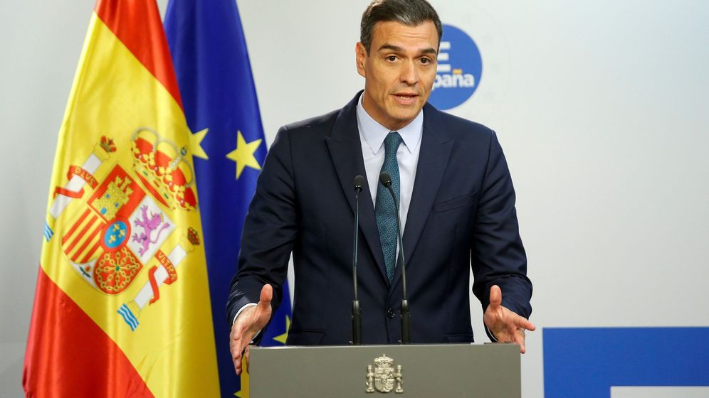Foto: Pedro Sánchez en rueda de prensa en Bruselas. (EFE)