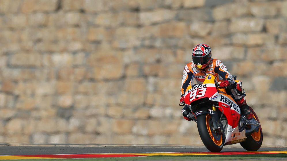 Foto: Marc Márquez durante la sesión de calificación en Motorland (Reuters).