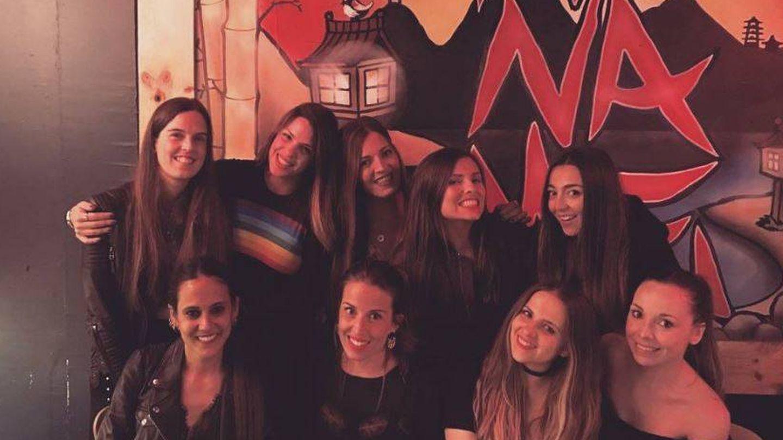 Fontcuberta rodeada de Laura Matamoros y Marta Castro. (Instagram)