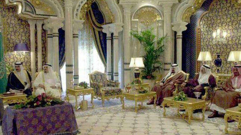 Interior del palacio de la familia real saudí en Marbella.