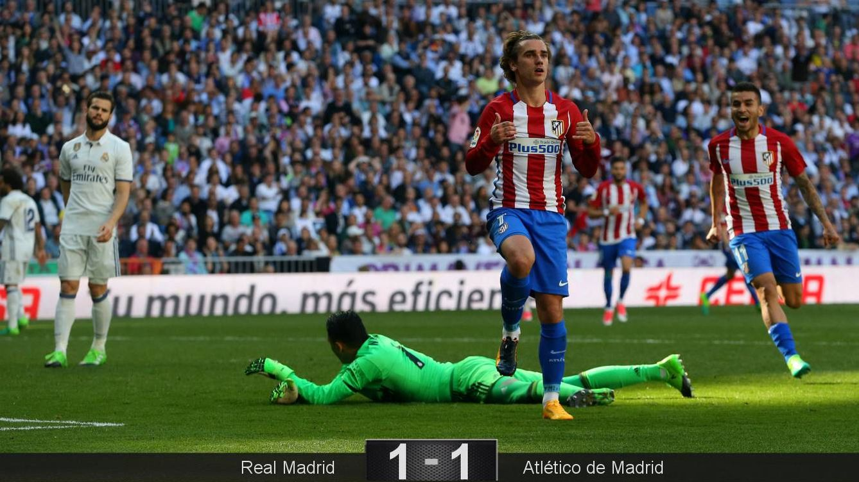 Foto: Griezmann celebra el gol del empate. (EFE)