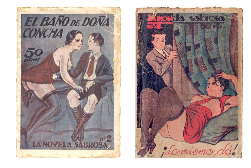Foto: Portadas de las novelas eróticas de Joan Sanxo Farrerons. (Renacimiento)