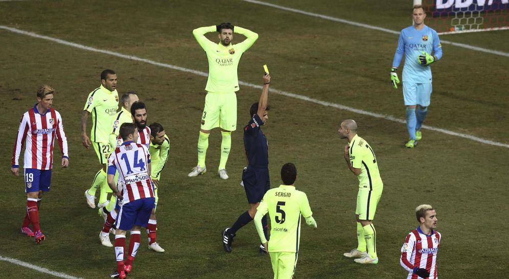 Foto: Imagen del Atlético Madrid-Barcelona de Copa del Rey (EFE)