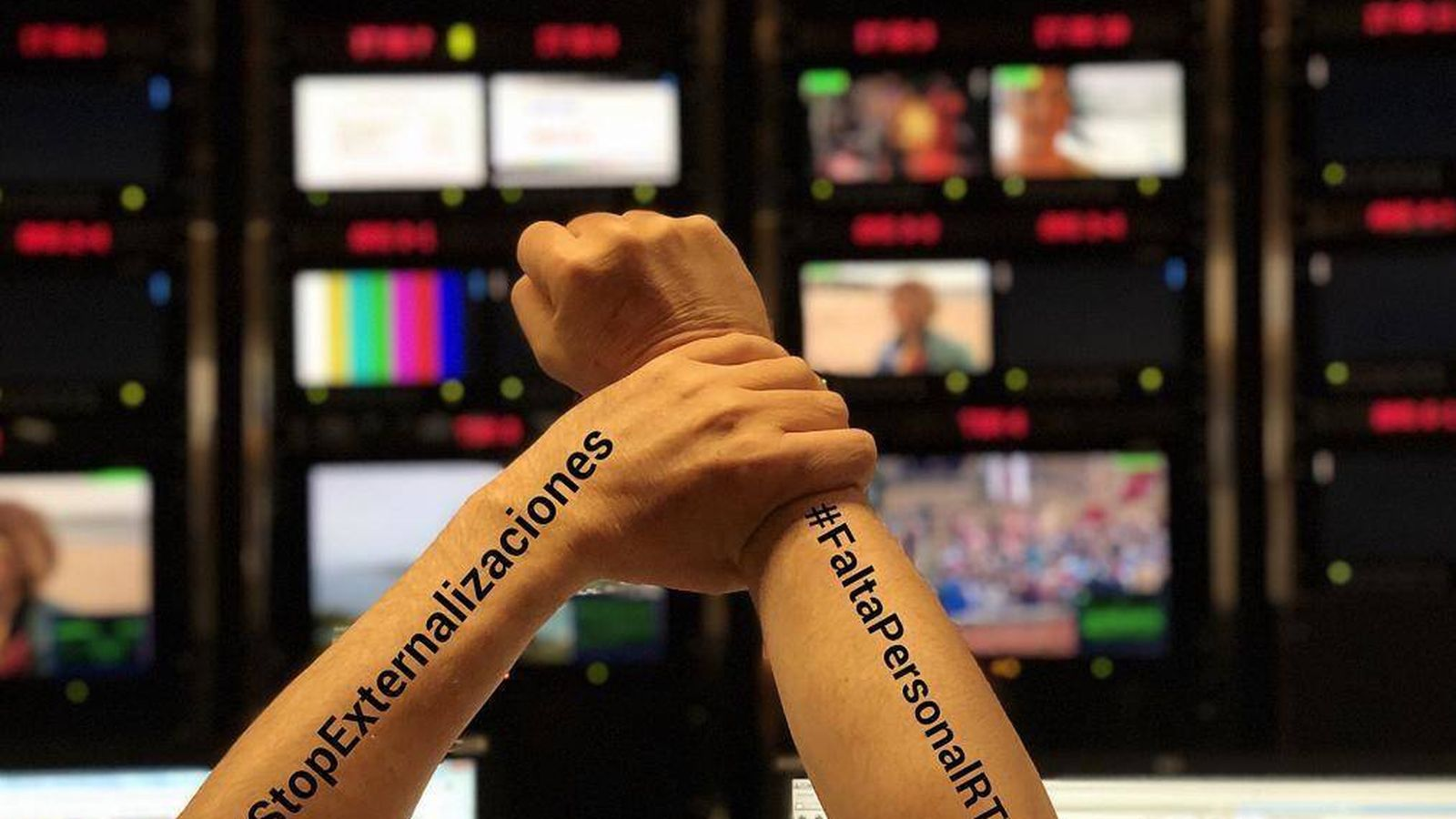 Foto: Los trabajadores de RTVE siguen en pie de guerra. (#LosMiércolesLoPeto)