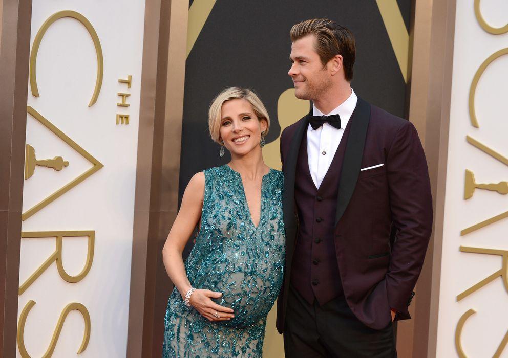 Foto: Chris Hemsworth y Elsa Pataky sobre la alfombra roja de los Oscar