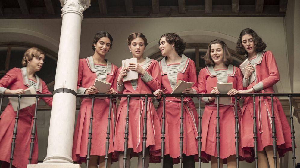 Foto: Las alumnas de 'La otra mirada'. (TVE)