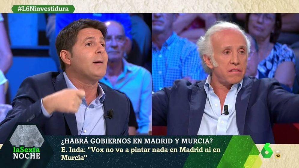Foto: Jesús Cintora y Eduardo Inda, en 'La Sexta noche'. (Atresmedia).