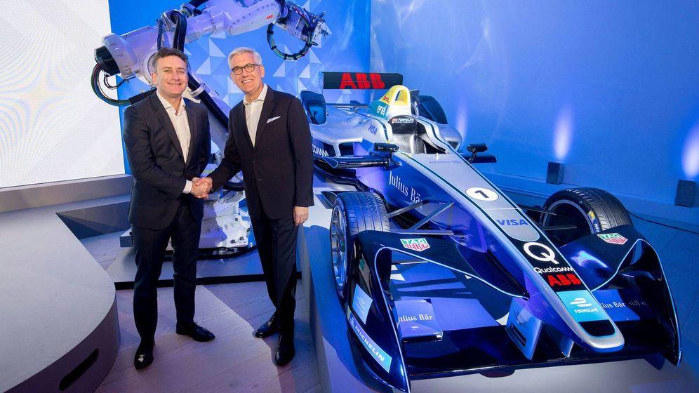 Foto: Alejandro Agag y el CEO de ABB, Ulrich Spiesshofer, este martes en la presentación.
