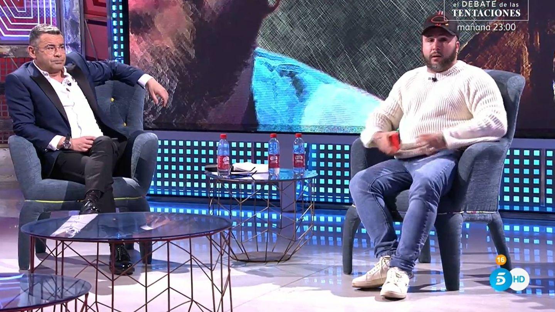 Jorge Javier Vázquez y Kiko Rivera, en el 'Deluxe'. (Mediaset)
