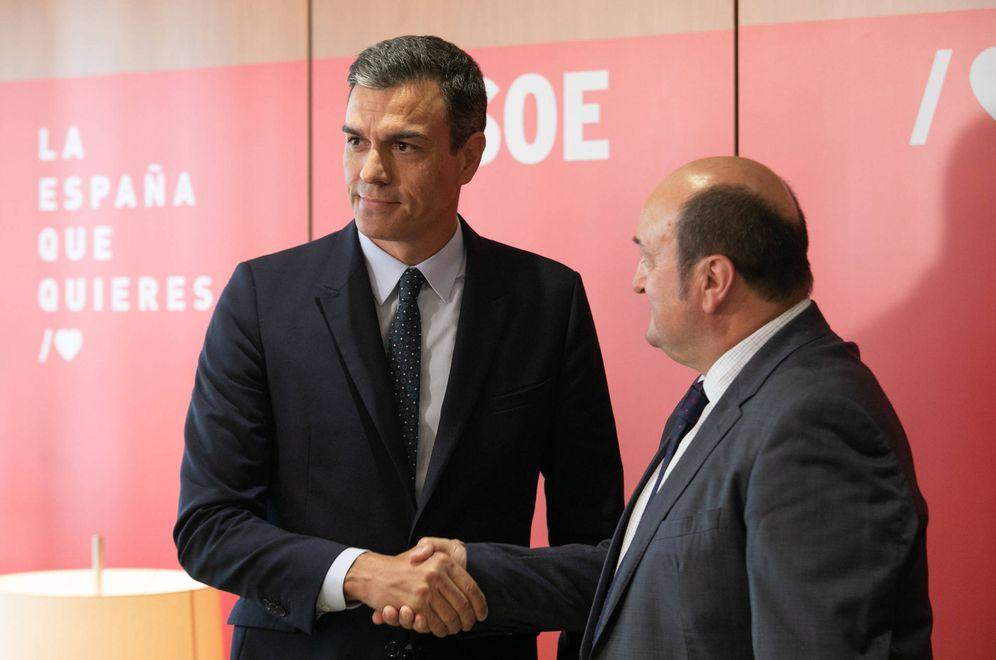 Foto: Pedro Sánchez y el presidente del PNV, Andoni Ortuzar, este 4 de septiembre en Ferraz. (Eva Ercolanese | PSOE)