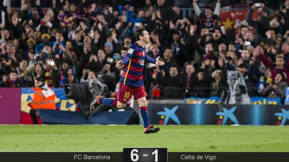 El fútbol se le queda pequeño al Barça en un segundo tiempo para recordar