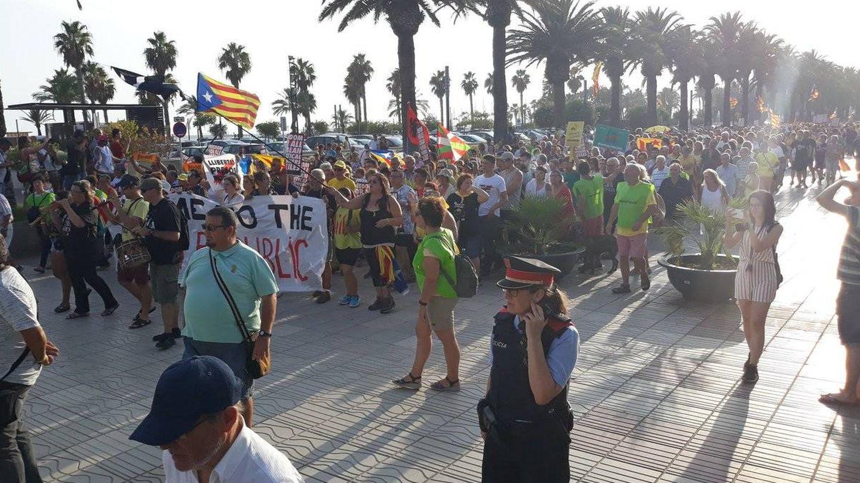 Manifestación por la independencia catalana en Salou este agosto. (Twitter: CDR Cambrils)