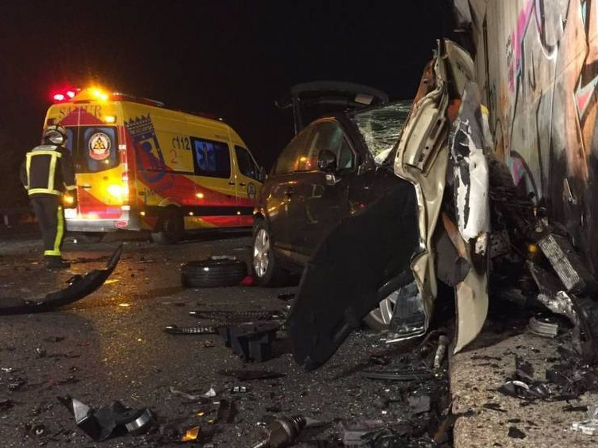 Foto: El accidente que provocó el conductor kamikaze en la M-50