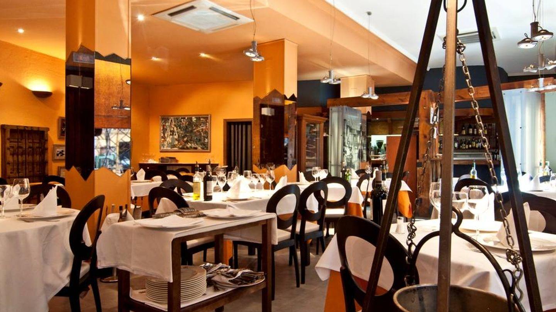 El restaurante El Caldero por dentro