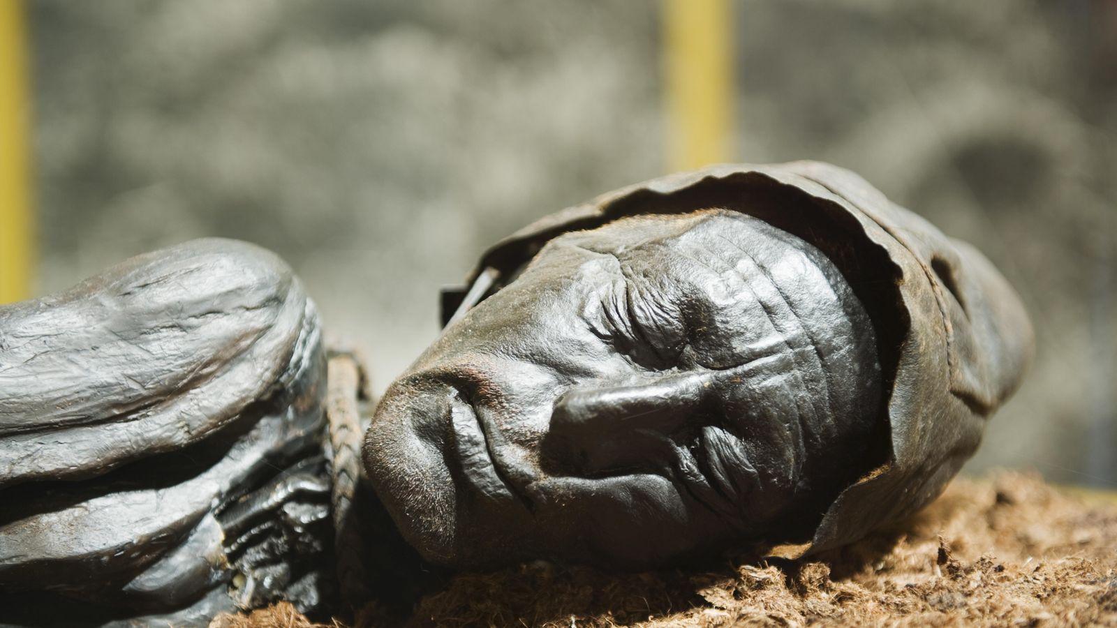 Foto: El hombre de Tollund, tal como se expone en el Museo de Silkeborg. (Corbis)