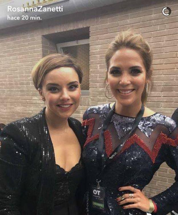 Foto: Chenoa y Rosanna Zanetti (Snapchat)