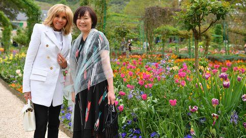 Las primeras damas de Francia y Japón visitan Giverny