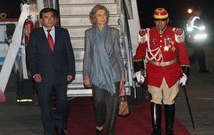 La reina Sofía aterriza en Bolivia