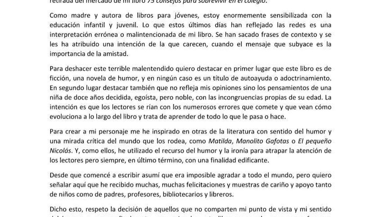 Carta de María Frisa