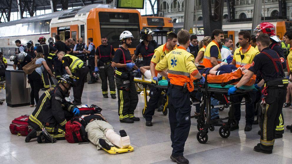 Todas las fotos del accidente de tren en la Estación de Francia de Barcelona