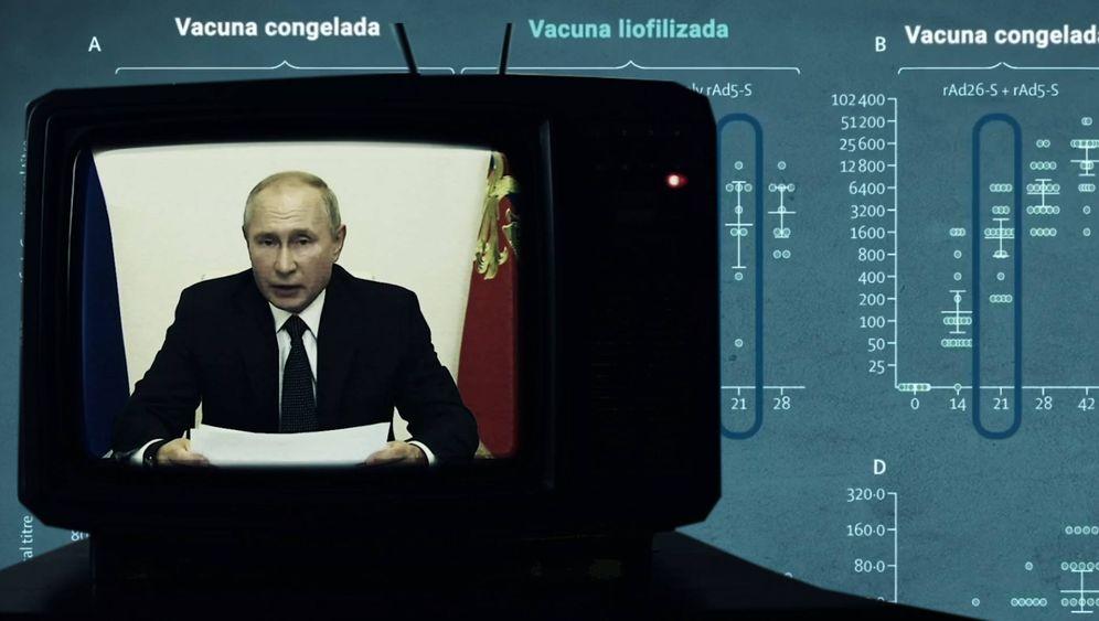Foto: Putin, dando el parte vírico.