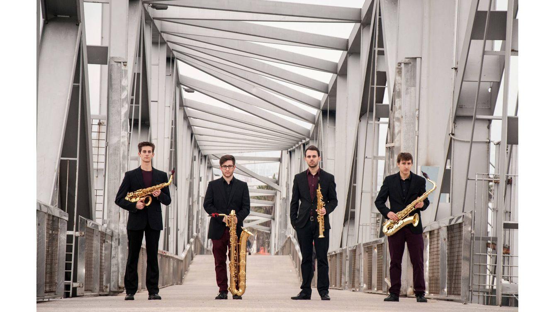 Foto: El cuarteto de saxofones Kebyart Ensemble.