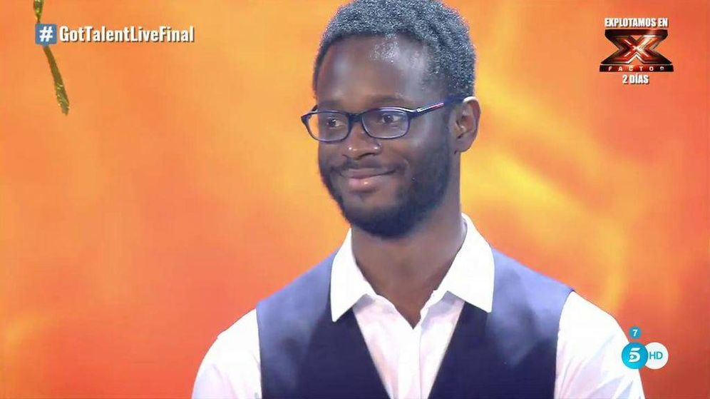 Foto: El poeta César Brandon, ganador de 'Got Talent'. (Telecinco)