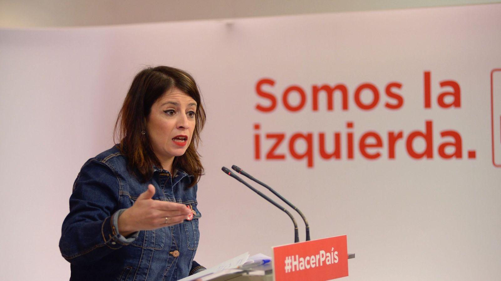 Foto: La vicesecretaria general del PSOE, Adriana Lastra. (EFE)
